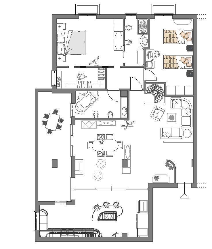 arredamento soggiorno dwg idee per il design della casa